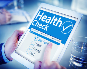 Digital Health Check Healthcare Concepts