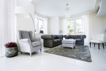 Old fashioned lather sofa