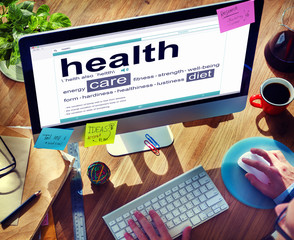 Digital Dictionary Health Care Diet Concepts