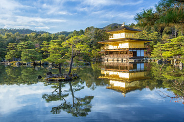 Kinkakuji Golden Pavilion in Kyoto, Japan