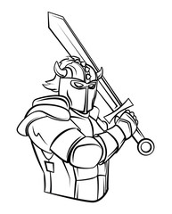 Knight Vector Illustration