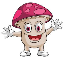 Mushroom Smile Character