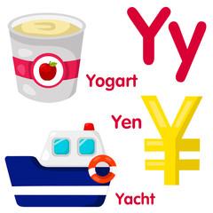 Illustrator of Y alphabet