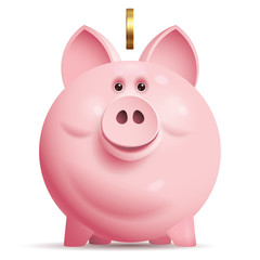 Vector piggy bank