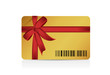 barcode gift card illustration design