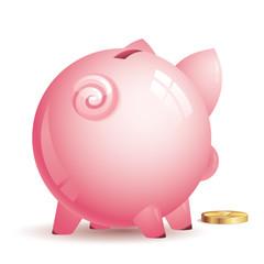 Vector piggy bank