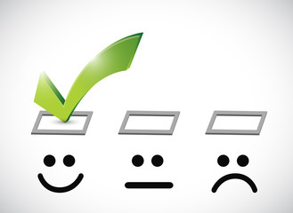 happy face selected illustration design