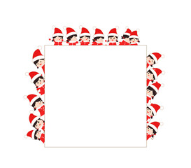 children dressed as santa claus kids and frame