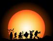 halloween walk with moon light