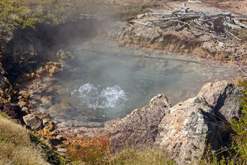 Boiling Water in a Thermal Pool