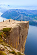 Cliff Preikestolen in fjord Lysefjord - Norway - 71980026