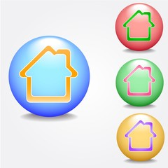 Home sign icon. Navigation symbol.