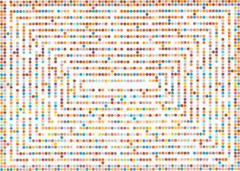 polka dots maze background
