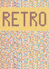 retro vector wallpaper with polka dots