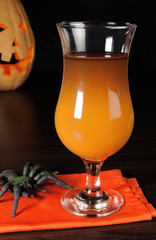Drink from a pumpkin on Halloween