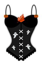 Corsetto nero di Halloween