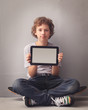 teenager  with tablet pc