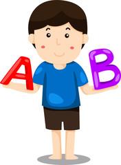 Illustrator of boy ABC's