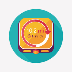 stopwatch flat icon with long shadow,eps10