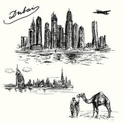 Dubai - hand drawn set