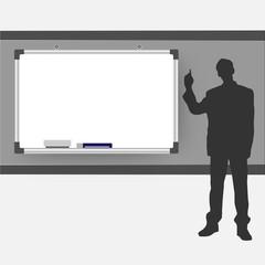 Presentation homme tableau réunion meeting