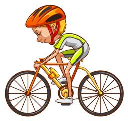 A sketch of a cyclist