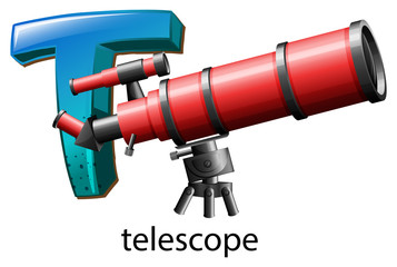 A letter T for telescope