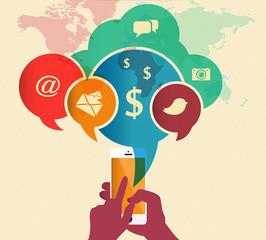 Communication smartphone monde