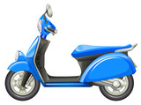 Fototapety A blue scooter