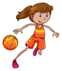 A female basketball player