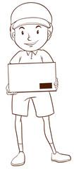 A plain sketch of a postman