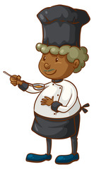 A coloured sketch of a chef
