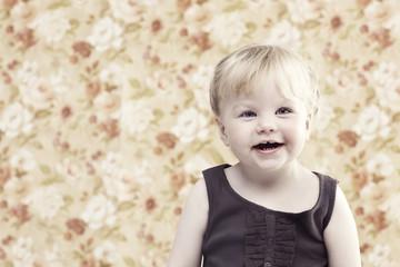 Portrait of young girl in studio