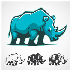 Rhinoceros Symbol. Rhinoceros vector cartoon symbol.