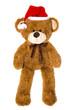 Teddy Bär isoliert als Santa Claus oder Weihnachtsmann