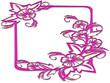 Cadre déco fleurs rose