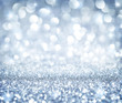 canvas print picture - christmas background - shining glitter - heaven silver