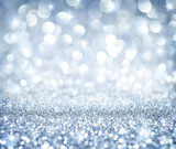 christmas background - shining glitter - heaven silver
