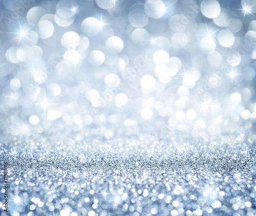 tło Boże Narodzenie - lśniący blask - niebiański srebrny
