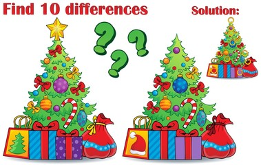 Find differences Christmas theme