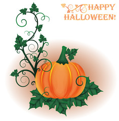 Happy halloween invitation card, vector illustration