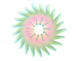 Abstracte ijs bloem