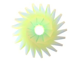 Abstracte ijs bloem in geel en blauw tinten