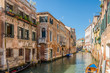 canvas print picture - Old buildings in Venice