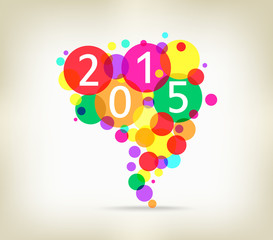 happy new year background colorful