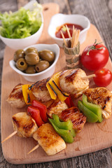 grilled meat on board