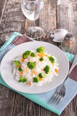 rice and broccolis