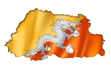 Bhutan flag map
