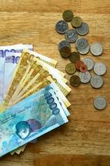 Money Bills on a table