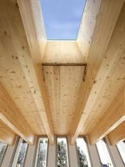 Building. Window. Wooden Beams